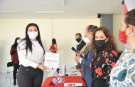 Adriana Campos se registra como precandidata a la Diputación Federal por el distrito 7 en Michoacán