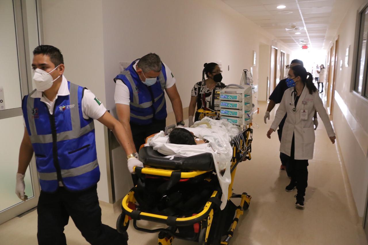 Inicia traslado de pacientes hospitalizados a nuevas instalaciones del Hospital Infantil