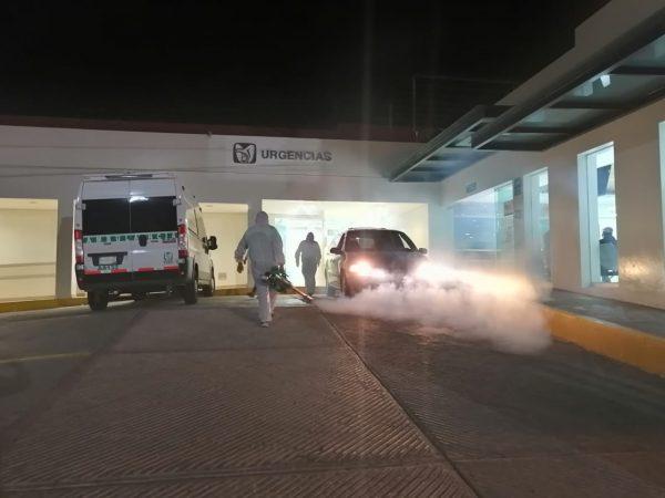 Sanitiza Gobierno Municipal los 3 hospitales COVID de Zamora