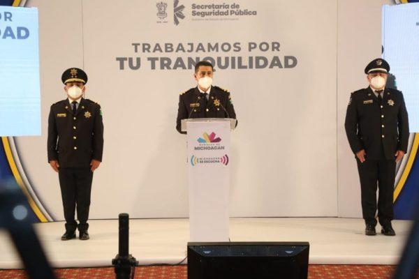 Vigilan más de 3 mil elementos de Policía Michoacán cumplimiento a normas sanitarias
