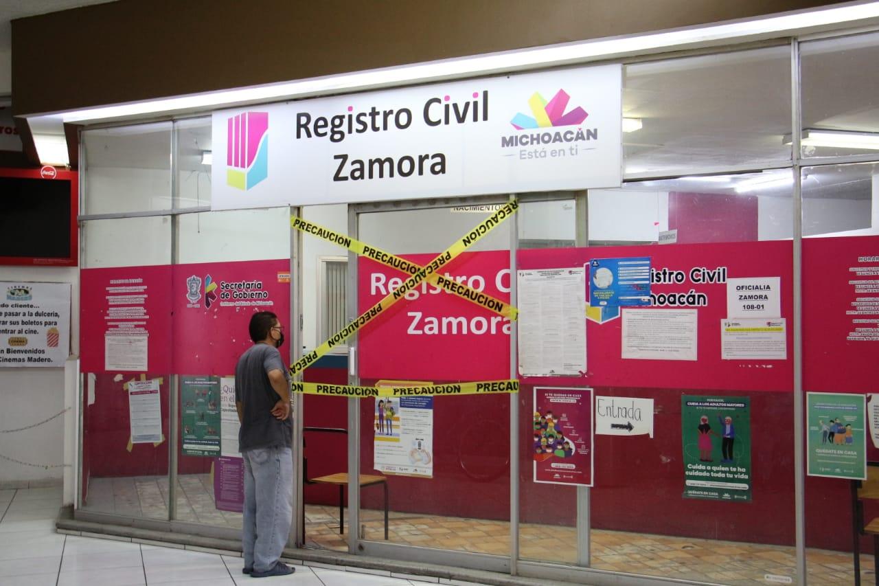 Detenidas las bodas civiles en el registro civil de Zamora