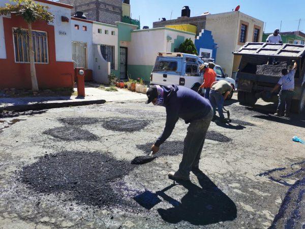 Dan mantenimiento a calles zamoranas