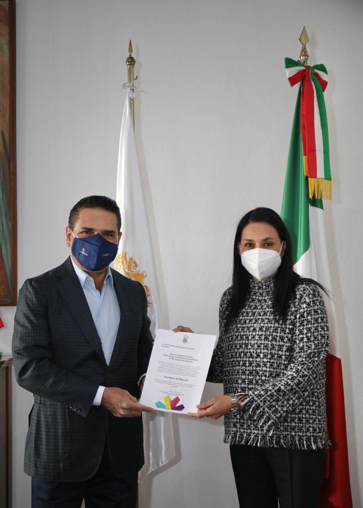 Designa Gobernador a Zaira Mandujano titular de Semigrante