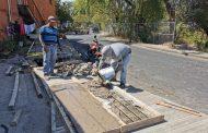 Reparan losas dañadas en Circuito Vial Galeana