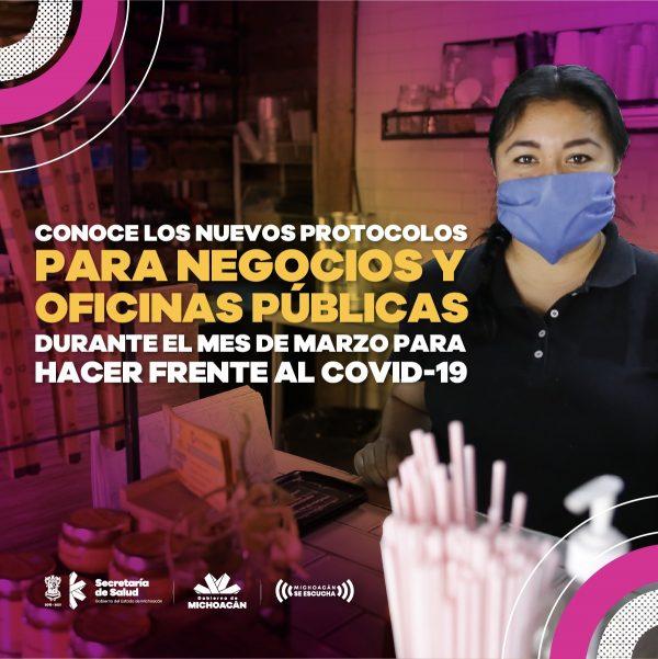 En Michoacán, nuevas medidas para reactivar la economía sin relajar las medidas de prevención