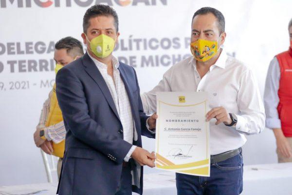 Toño García, Delegado Político para la Estrategia Territorial del PRD