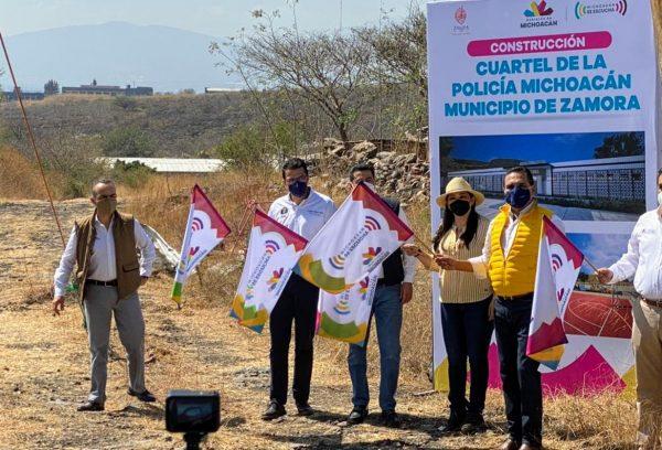Ponen en marcha construcción de cuartel de Policía Michoacán en La Huanumera Zamora