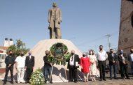 Conmemoran natalicio de Benito Juárez