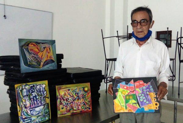 "Pintor local crea colección ""Ciudades desiertas, COVID-19"" inspirado en pandemia"