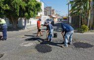 Continúa programa de Mantenimiento a Vialidades en Zamora