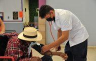 Día tres de vacunación en Jacona para 2da dosis a adultos mayores