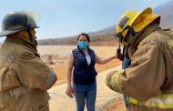 Con trabajo coordinado se logró controlar incendio en relleno sanitario de Jacona