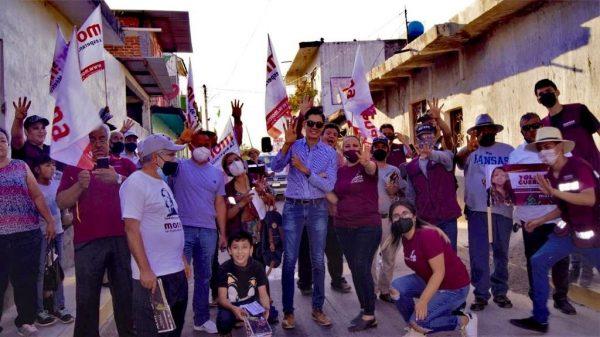 Intensa la actividad de campaña en el V distrito realizó Yolanda Guerrero