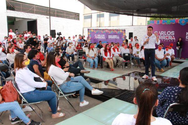 Mujeres zamoranas serán prioridad en apoyos: Carlos Herrera, candidato al gobierno