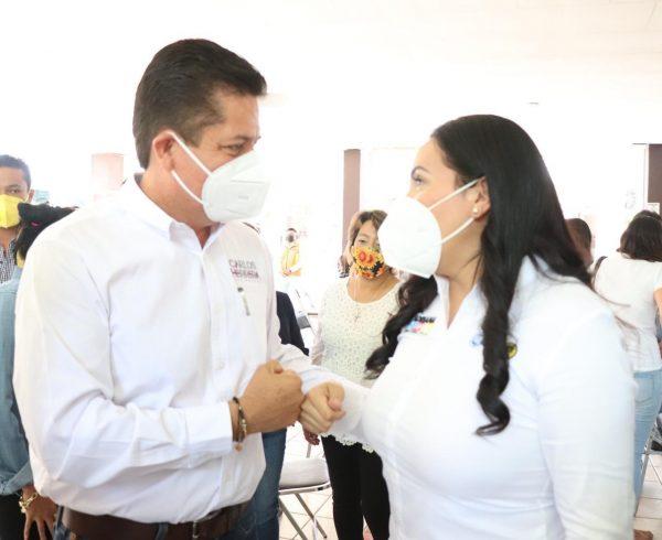 Adriana Campos agradeció respaldo de Toño García a su proyecto