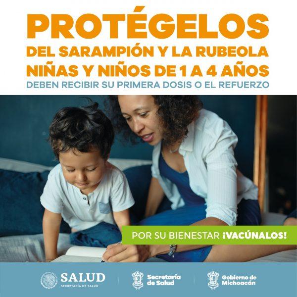 Niñas y niños de 1 a 4 años recibirán dosis adicional de vacuna contra sarampión y rubeola