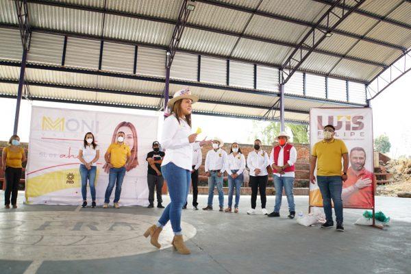 Moni Valdez, candidata a la diputación local, recorrió Purépero