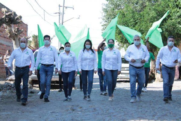 Marce convence, El Platanal se pintará de Verde