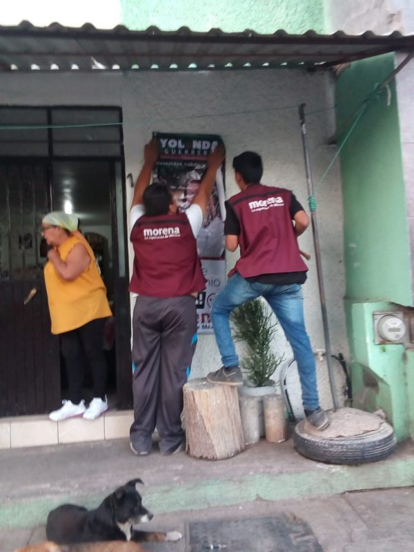 Militantes y jóvenes morenistas trabajan para llevar al triunfo a Yolanda Guerrero