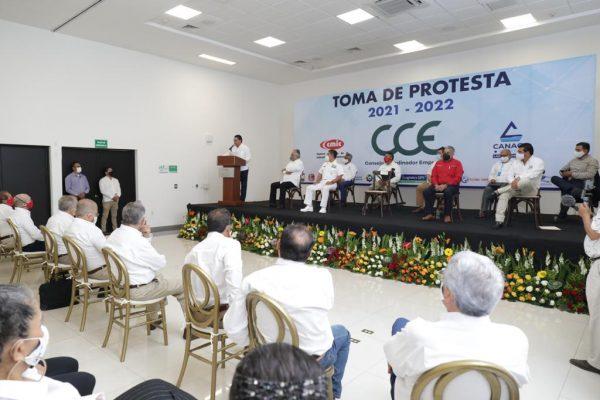 Superará Michoacán reto económico por COVID-19, en unidad con empresarios