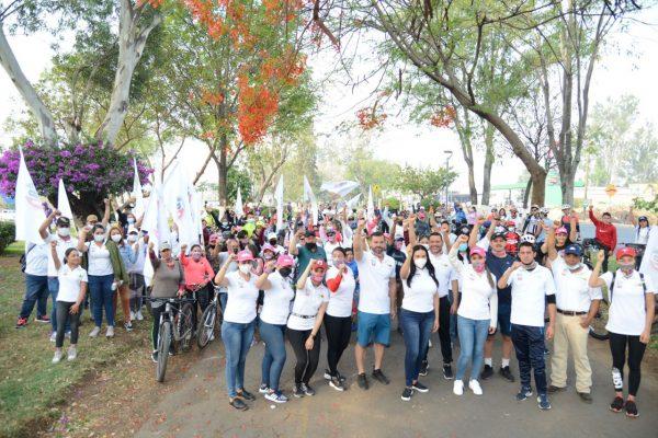 Rotundo éxito en la rodada ciclista en Domingo Familiar Jacona