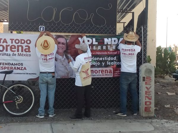 Incansable labor de la gente de Yolanda Guerrero para dar a conocer mensaje de la candidata