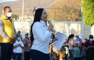 Habitantes de La Planta ratifican apoyo a Adriana Campos para Diputada Federal