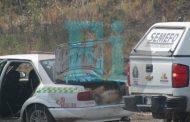 Localizan 3 cuerpos desmembrados dentro de un taxi abandonado en la carretera a Santiaguillo