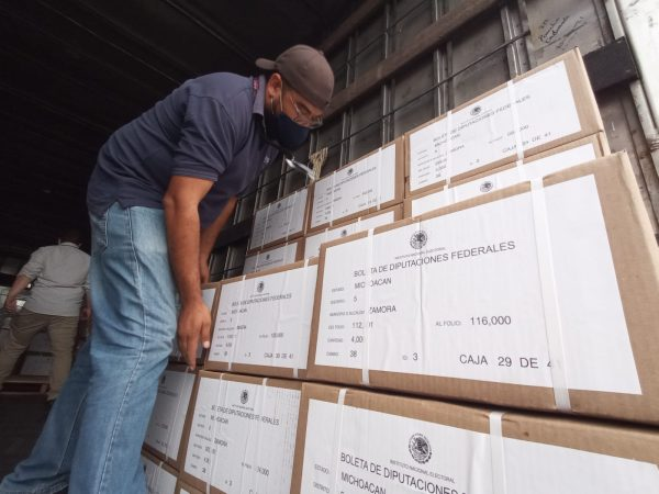 Llegaron más de 300 mil boletas electorales al distrito 05 del INE