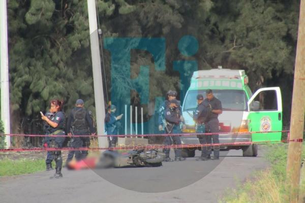 Motociclista muere tras ser baleado por delincuentes cerca del Fraccionamiento Acanto II