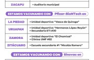 Continúa inmunización contra COVID-19 en Michoacán en 19 municipios