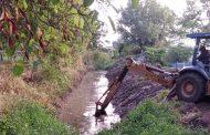 Desazolve de ríos y canales por parte del SAPA Jacona