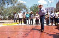 Ahora le tocó a comunidad de Las Tinajas, inauguran calle Ignacio Sánchez