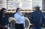 Entrega gobierno municipal cemento a bajo costo a familias jaconenses