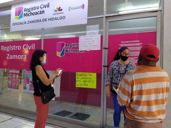 Registro Civil mantiene servicio por citas; evitan riesgo de COVID