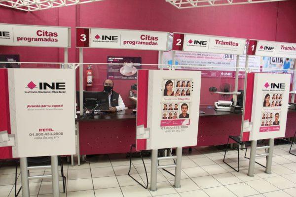 Módulos de atención ciudadana del INE ya reanudaron tramites