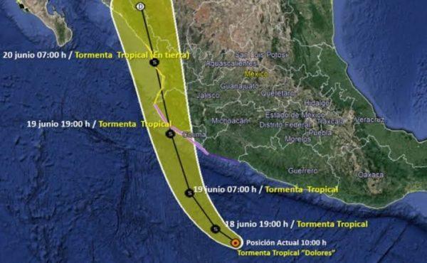 """En alerta PC Estatal ante el paso de la Tormenta Tropical """"Dolores"""