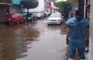 Fuertes lluvias hubo en Zamora, Jacona y Tangancícuaro