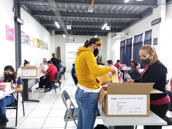Más de 300 mil papeletas llegaron para la primera consulta ciudadana