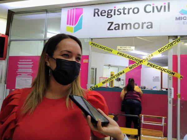 Registro civil de Zamora reabre sus puertas al público, ya no se ocupa hacer cita