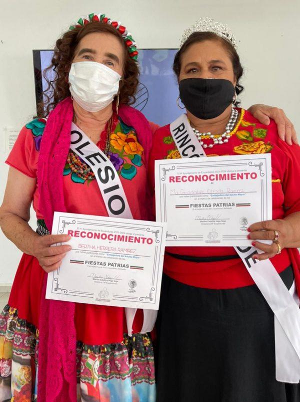 María Guadalupe Estrada es la Embajadora del Adulto Mayor en Ecuandureo