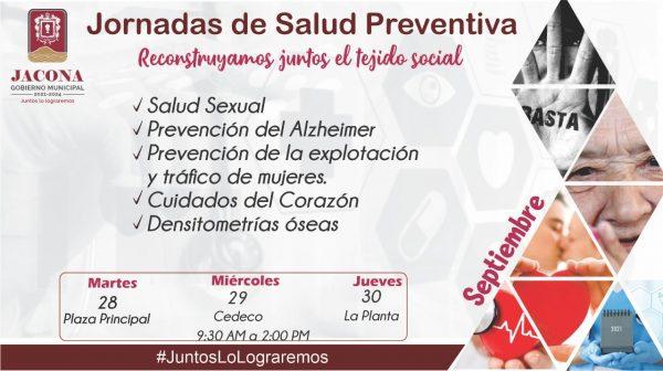 Gobierno municipal de Jacona prepara las Jornadas de Salud Preventiva.