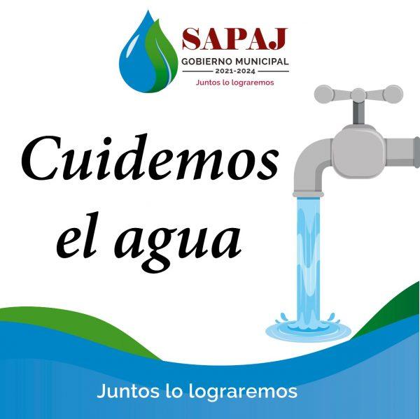 SAPAJ llama al uso responsable del agua entre la población.