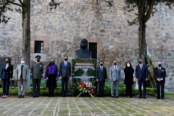 Conmemoran CCLVI Aniversario del Natalicio de José María Morelos