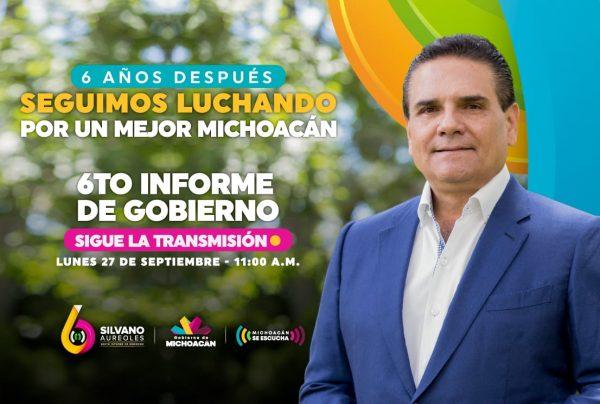 Rendirá Silvano Aureoles su Sexto Informe de Gobierno virtual este lunes