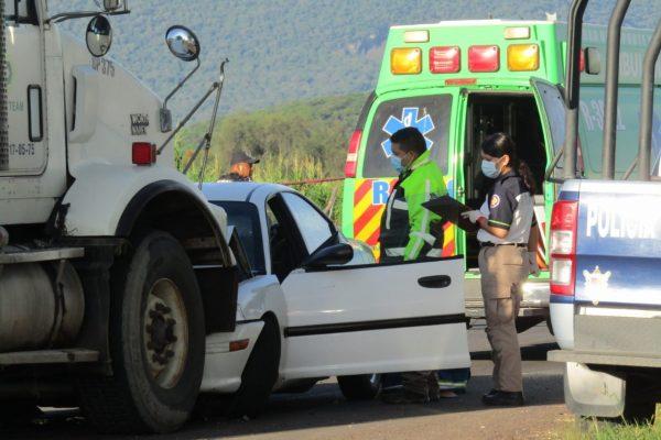 Aparatoso choque en la Ario de Rayón – Chavinda deja una mujer muerta