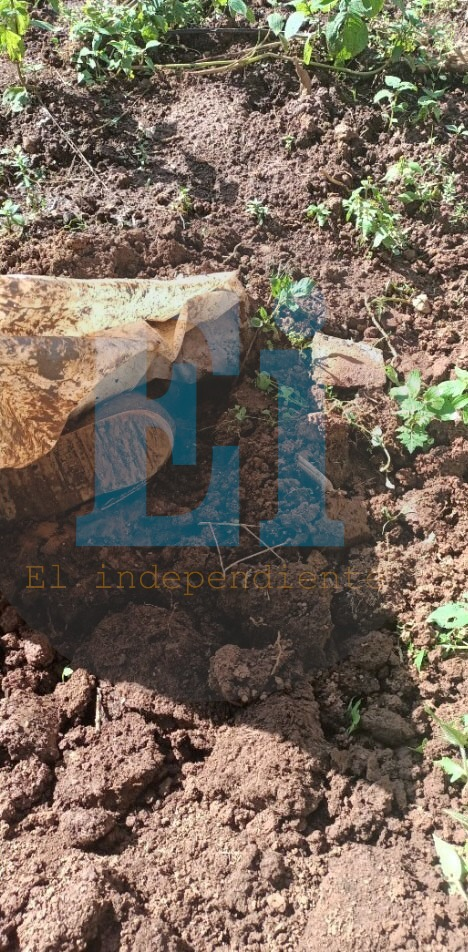 Hallan cadáver enterrado en predio de Tangancícuaro