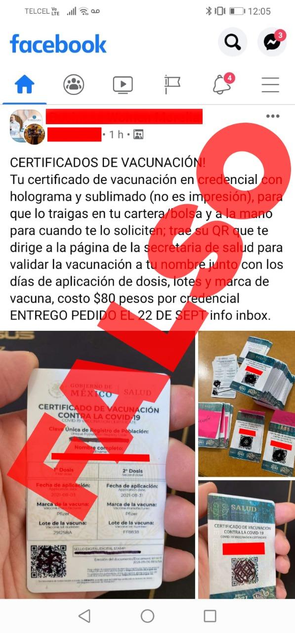 Alerta Coeva sobre falsos certificados de vacunación anti-COVID-19