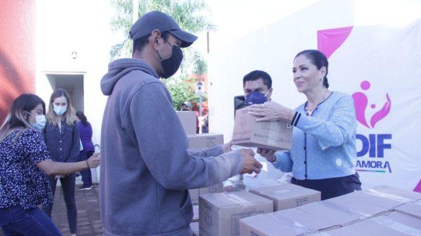 DIF Zamora arrancó el programa de entrega de despensas
