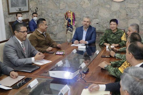 Gobernador Alfredo Ramírez instala mesa para construcción de la paz en Michoacán